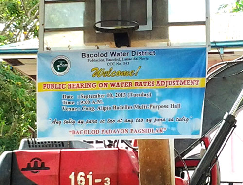 Public Hearing on Water Rates Adjustment