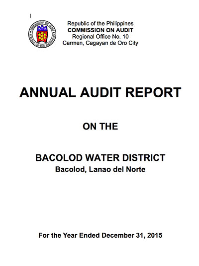 Annual Audit Report CY 2015