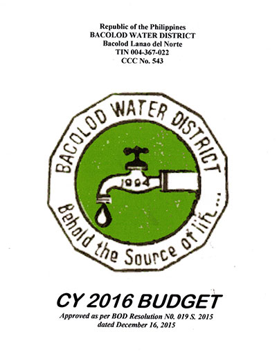 Approved Budgets and Corresponding Targets CY 2016