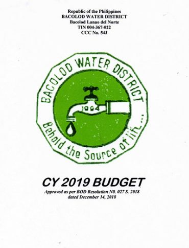 Approved Budgets and Corresponding Targets CY 2019