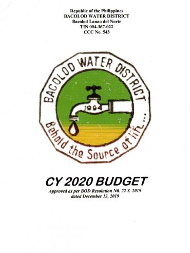 Approved Budgets and Corresponding Targets CY 2020