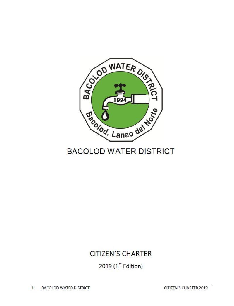 Bacolod Water District Citizen's Charter Handbook