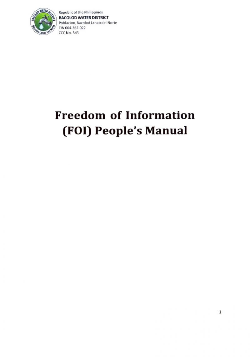 Updated People's FOI Manual
